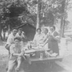 Left : Marion, Kelly, Edward Lewis Marcotte Right: Mildred Winship, Tia, Anita Parmenter - Marcotte